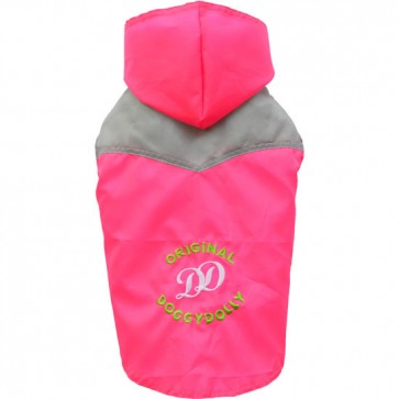 Impermeable rosa para perros