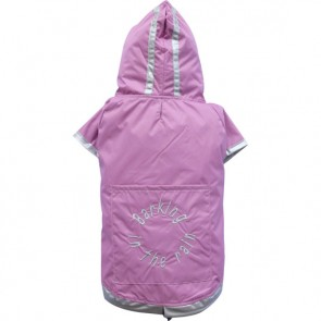 Impermeable reflectante rosa